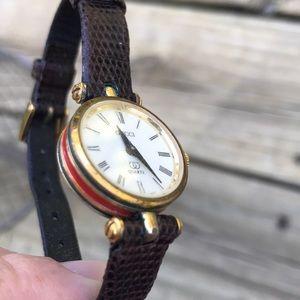 Gucci Jewelry - Vintage Ladies Gucci Watch Red Green Stripe